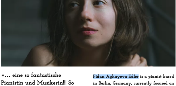 Toy Piano Concert – Fidan Aghayeva-Edler